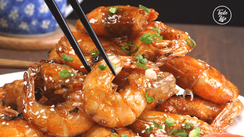 Chinese Style Sautéed Deep Fried Shrimp