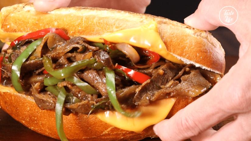 Philly Style Pork Sandwich