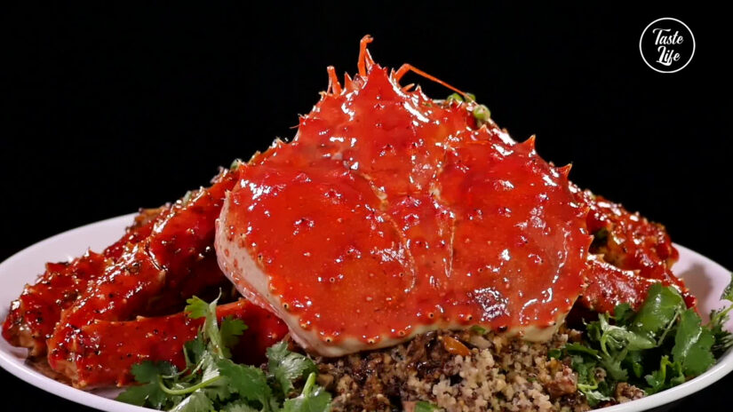 King Crab With Steamed Super Grains