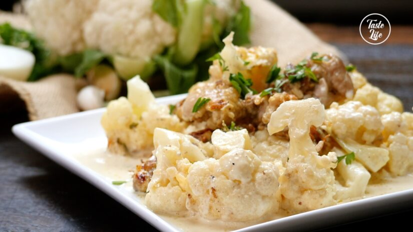 Creamy Chicken and Cauliflower Casserole