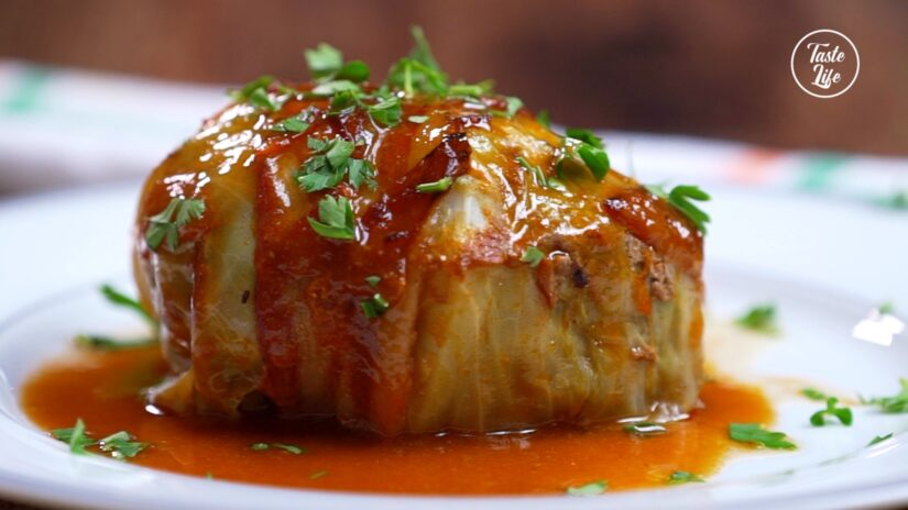 Bacon Wrapped Cabbage Rolls