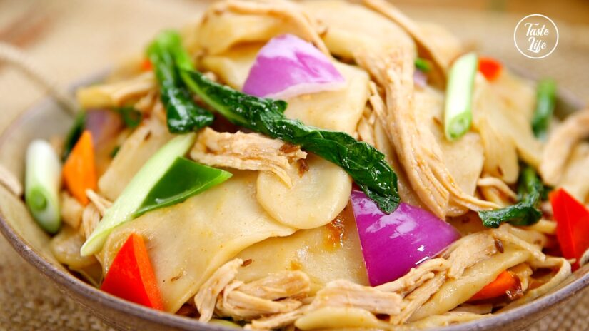 Shanxi Hand Pinched Noodles Stir Fry