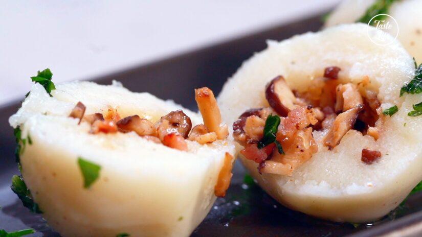 Bacon Mushroom Potato Dumplings