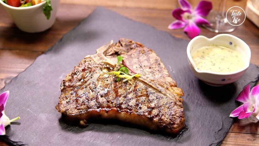Grilled T-bone With Butter & Horseradish Sauce