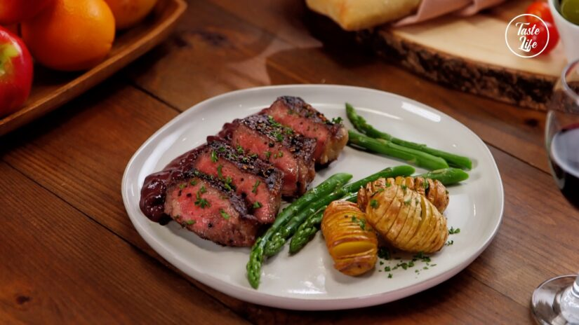 Pepper Steak With Red Wine Sauce