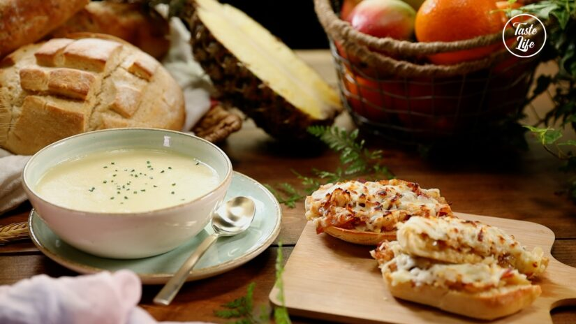 Potato Leek Soup With Chef's Special Toast
