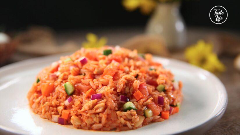 Tomato Chicken Fried Rice
