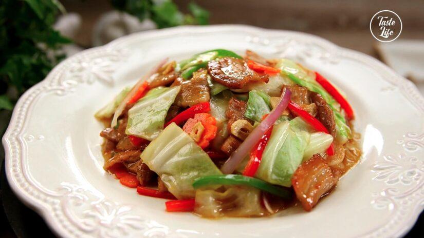 Stir Fry Pork Belly With Cabbage