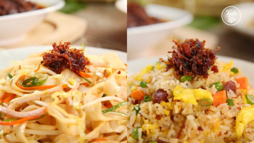 Fried Noodles & Rice With XO Sauce