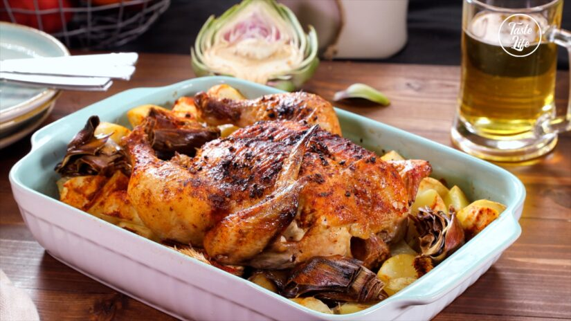 Oven Roasted Marinated Chicken