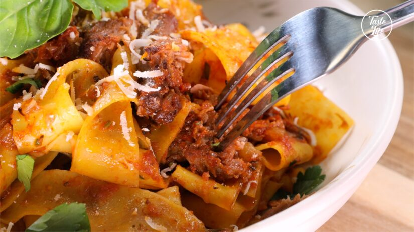 Pappardelle Pasta With Slow Cooked Lamb