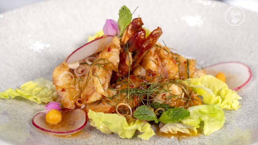 Spicy Tiger Prawn Salad
