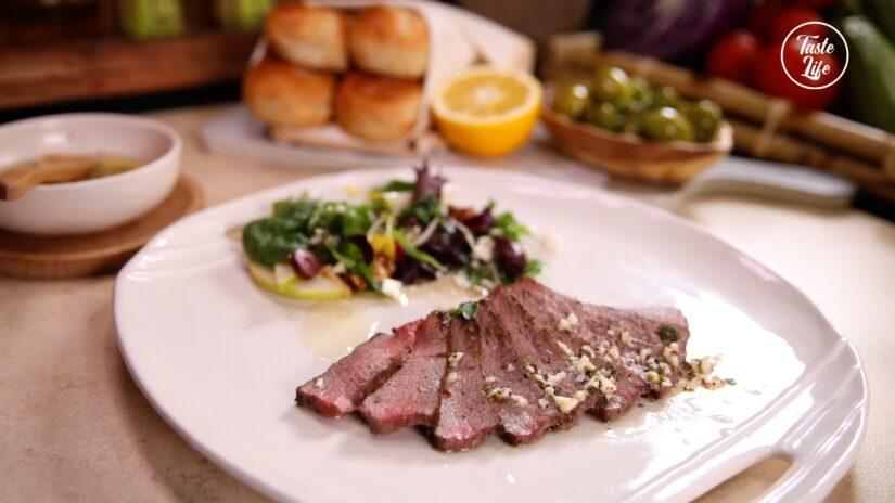 Seared Lamb Rump With a Lemony Garlic and Herb Vinaigrette