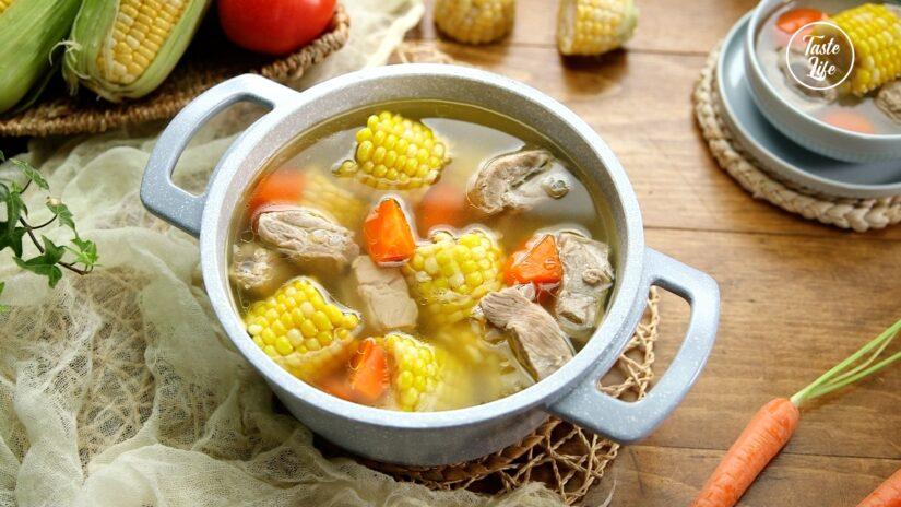 Corn Pork Ribs Soup