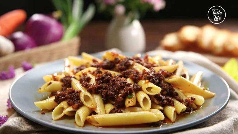 Mostaccioli Pasta With Chef John's Beef Sauce