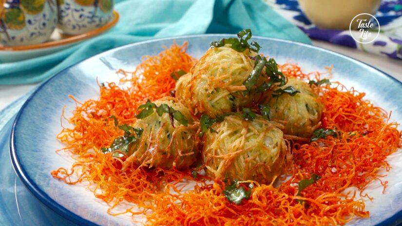 Crispy Shrimp Zucchini Balls