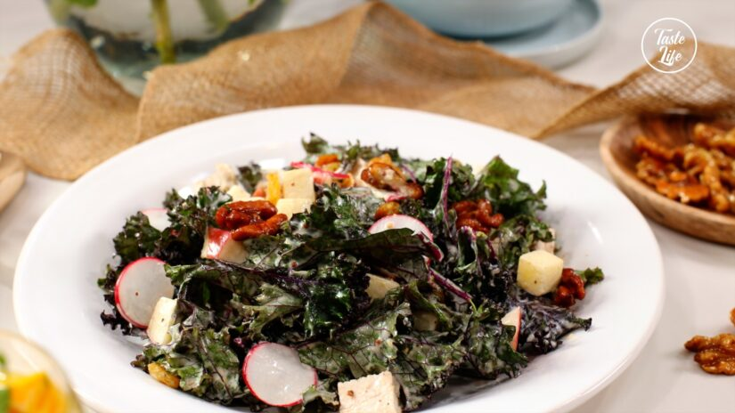 Kale and Chicken Waldorf Salad