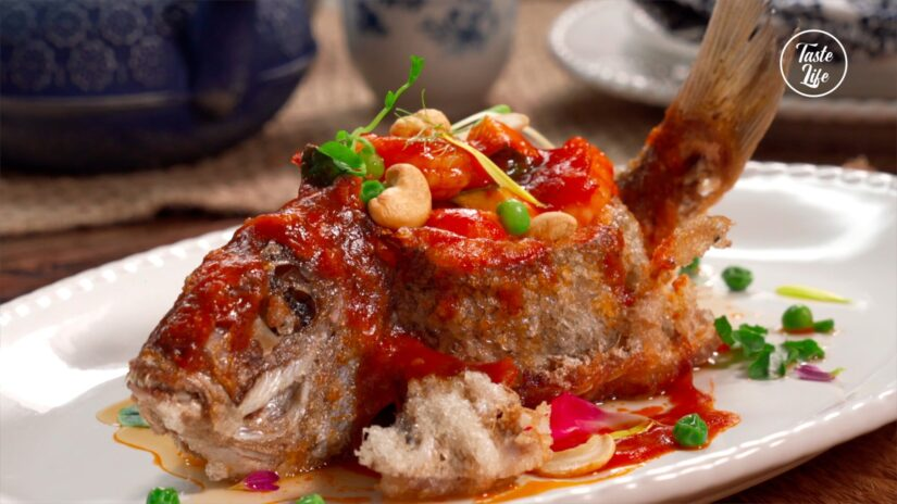 Fried Whole Fish With Sweet and Sour Sauce
