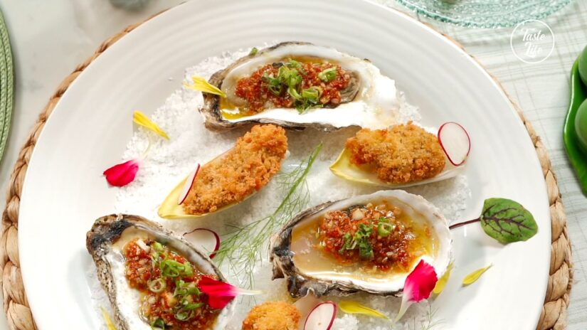 Oven Roasted Oysters and Fried Oysters