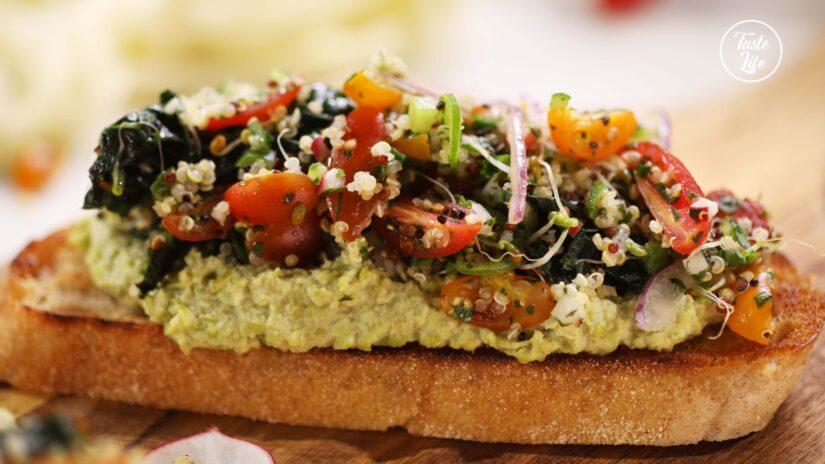 Kale Tabbouleh Toast