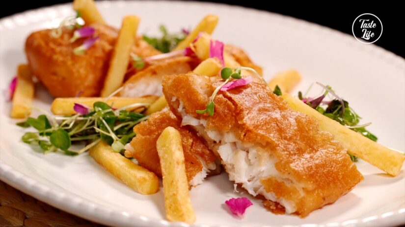 Beer Battered Cod with French Fries