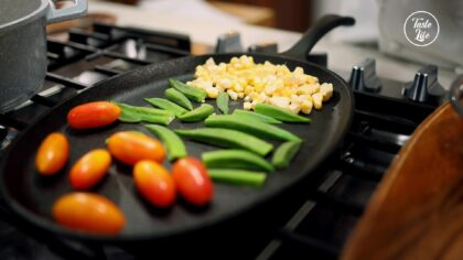 Step 10 【Pan-grill The Vegetables】