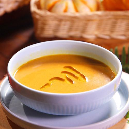 Pumpkin Squash Soup with Coconut Milk