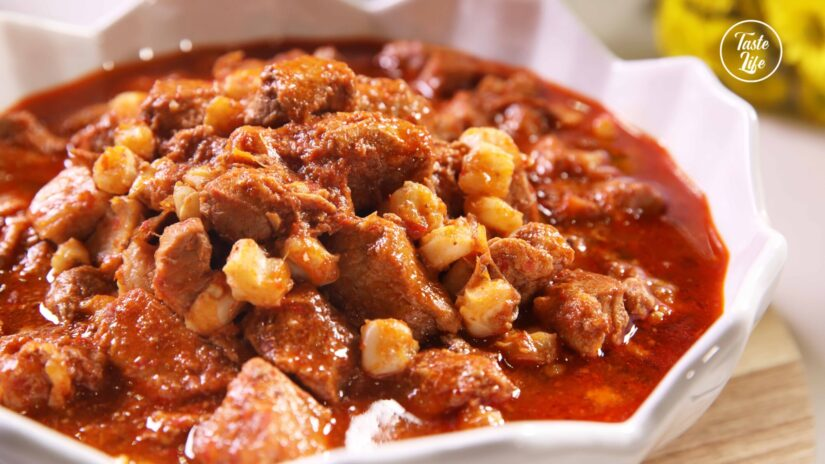 Pozole – Mexican Pork and Hominy Stew