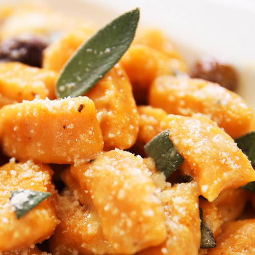 Sweet Potato Gnocchi With Brown Butter and Sage Sauce