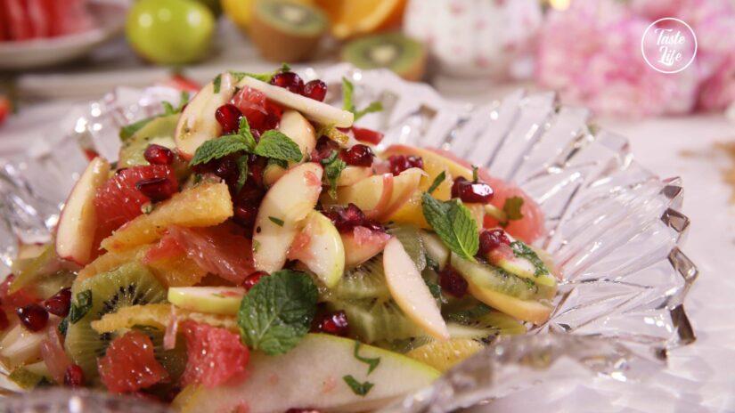 Winter Fruit Salad with Lime Vinaigrette