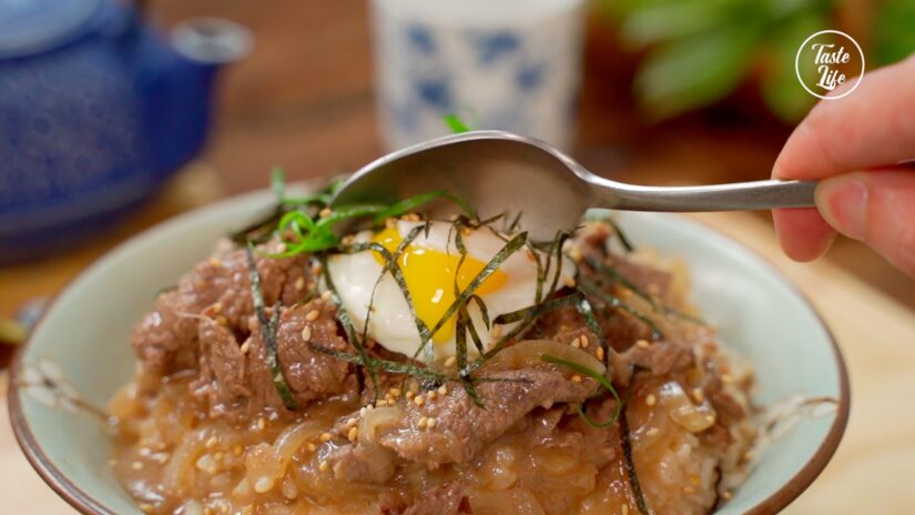 Gyudon, Japanese Simmered Beef Over Rice