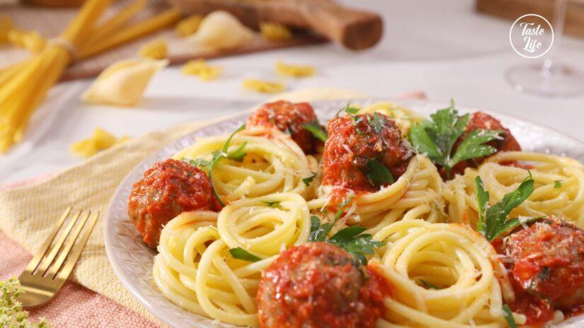 Fontina-Stuffed Meatballs With Marinara