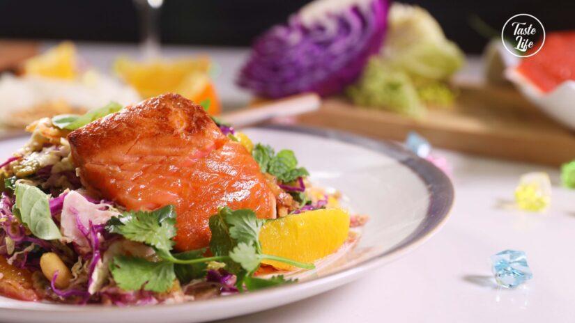 Soy-Glazed Salmon Siam Salad
