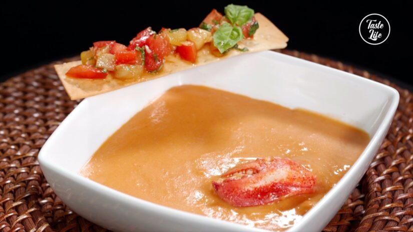 Lobster Bisque and Bruschetta
