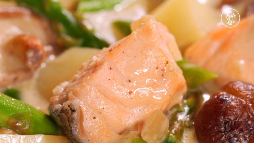 Salmon Potato Cream Stew