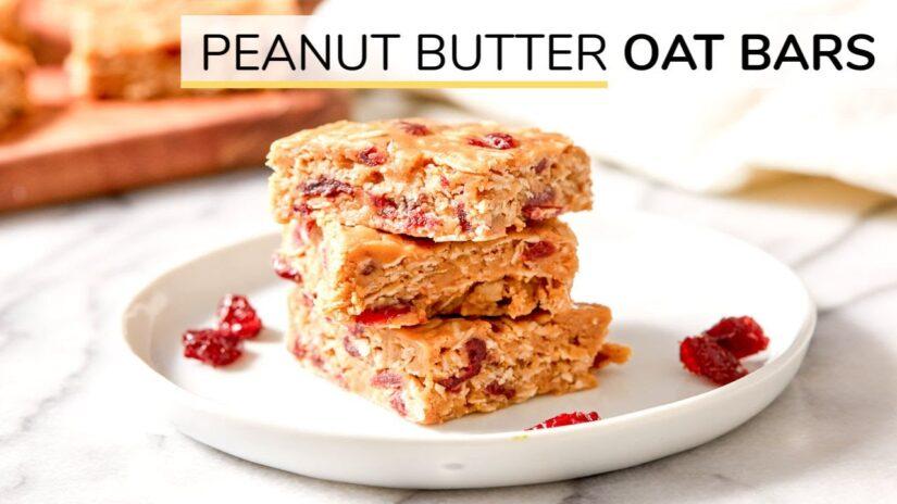 No-bake Peanut Butter Oatmeal Bars | 4-ingredient Oatmeal Bars