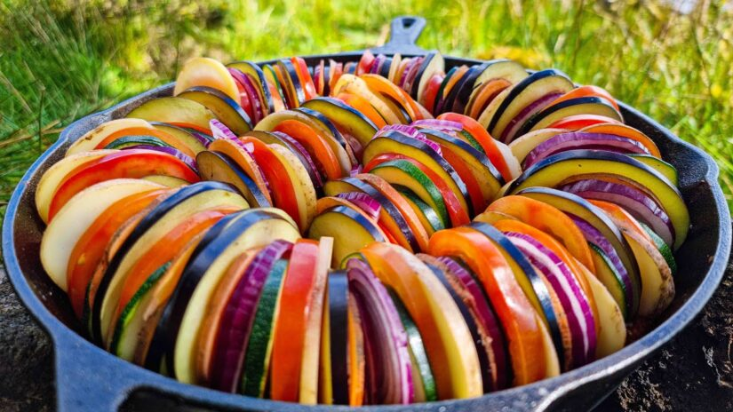 Ratatouille   Cooked in Nature By the Lake