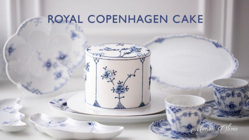 Making a Beautiful Royal Copenhagen Cake