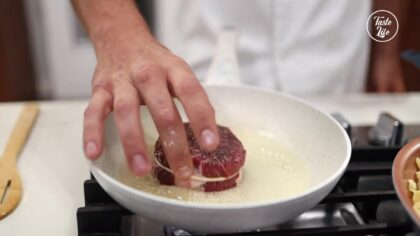 Step 6【Cook The Filet Mignon】