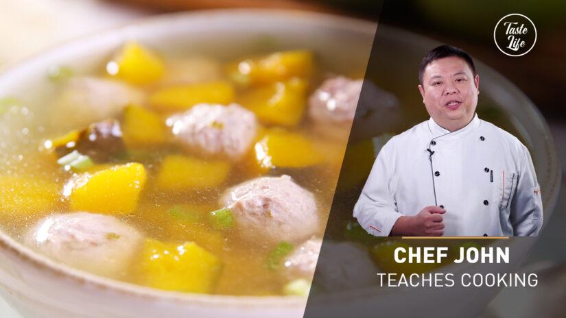 Chef John's Cooking Class   Pumpkin Meatball Soup