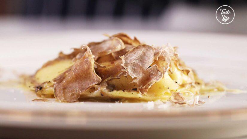 Egg Yolk Ravioli with White Truffle