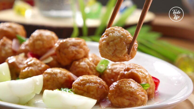 Fried Chicken Gluten Balls