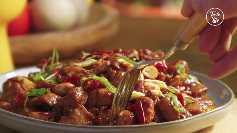 Teppan Style Kung Pao Chicken