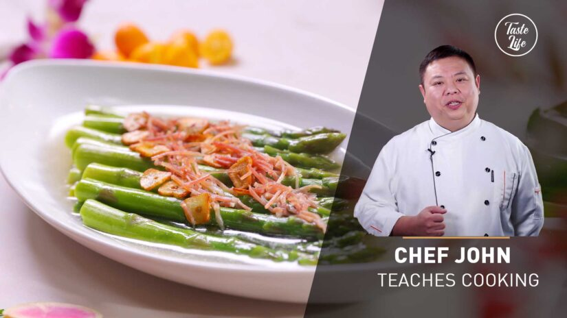 Chicken Broth Glazed Asparagus | Chef John's Cooking Class